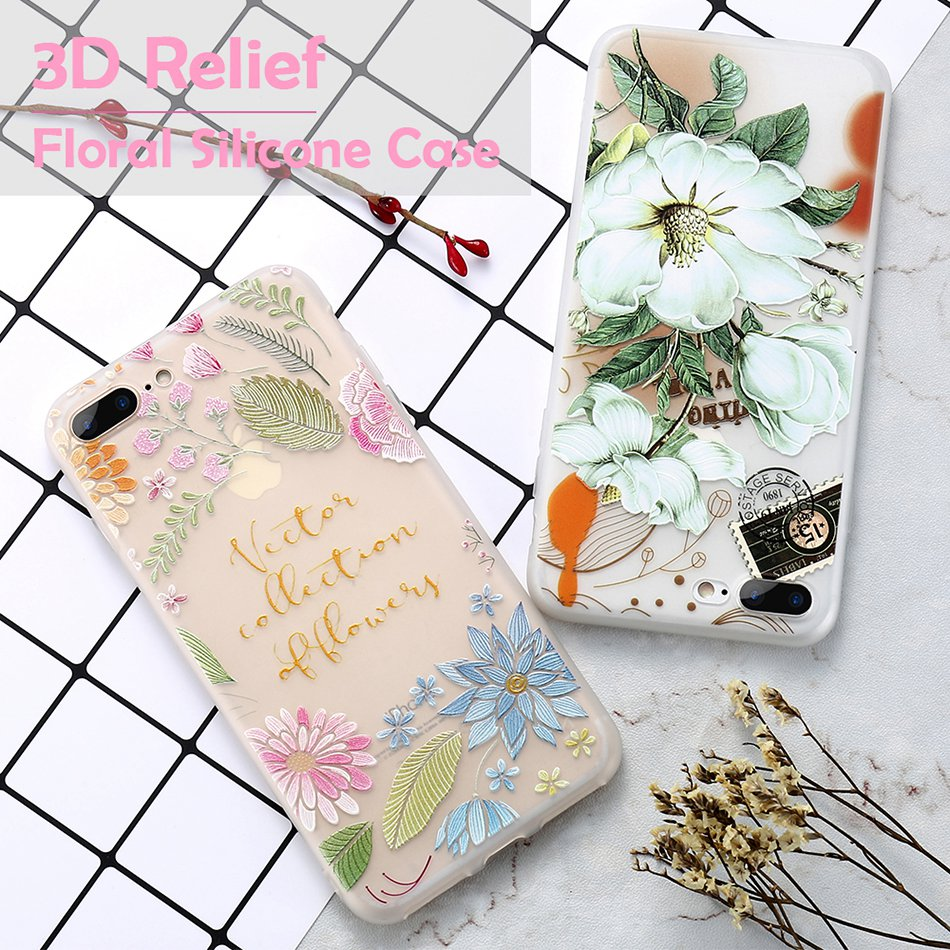 For iPhone 6 6S iPhone 7 Plus Soft TPU Silicon Phone Cover (1)