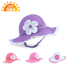 High Quality Summer Baby Sunhat Stereo Flower Girl Baby Prevent UV Sun bonnet nylon Princess Hat Children Cap