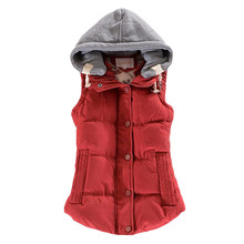 2019 Autumn Winter Basic Jackets Coat Women Vest Solid Vest Women Hooded Veste Femme Parkas Chalecos Para Mujer Casaco Feminino(China)