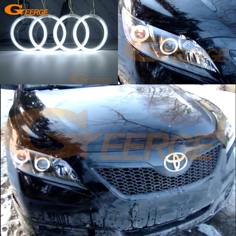 For Toyota Camry XV40 2006 2007 2008 2009 Altise Excellent Ultra bright headlight illumination CCFL Angel Eyes kit Halo Ring<br>