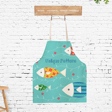 40x50cm Cartoon Colorful Fish Children Cooking Apron Sleeveless Kitchen Baking BBQ Party Apron