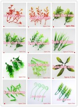 Multi options Artificial plastic flower stamens leaves garden decoration 24pcs/lot 027034011(China)