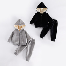 Children's wear winter baby sets thickening jacket zipper and pants(China)