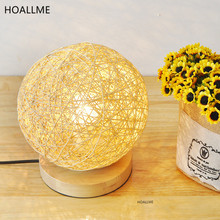 Table Lights Pastoralism Adornment Small Night Light Pure Handmade Chinlon Desk Lamp for Bedroom Bedside Coffee Shop(China)