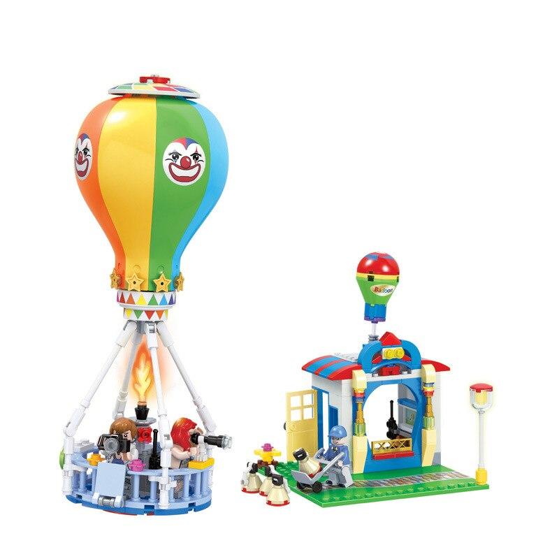 QWZ City Series Hot Air Balloon Girl Friends Modern Model DIY Assembled Bricks Building Block Set Educational Kids Toys Gifts<br><br>Aliexpress