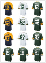 Men's Green bay Aaron Rodgers Jordy Nelson Clay Matthews Ha Ha Clinton-Dix Randall Cobb Bart Starr jerseys(China)