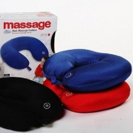 Electric Neck Massager U shape nap pillow electric cervical vertebra massage pillow comfort Neck Protection Red,Black,Blue<br><br>Aliexpress