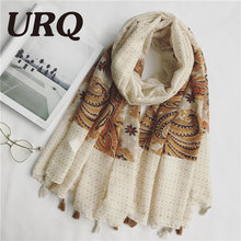 Women Long Tassels Scarf Woman print pasily style Flower Tassels Shawls hijab Sping 2017 new luxury brand design