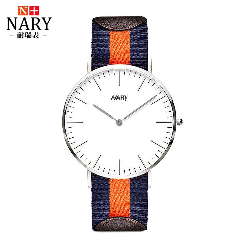 Best Quality Nary Brand WATCH 41mm For Men Women Ultrathin Silver Dial Nylon Leather Montre Femme Reloj Mujer Horloge Orologi<br><br>Aliexpress