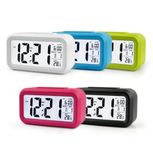 New Modern Large-Display Digital Alarm Clock LED with Calendar Electronic Desk Table Clocks @LS
