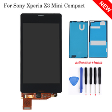 100% Tested Black White For Sony Xperia Z3 Mini Compact D5803 D5833 LCD Display Touch Screen Digitizer Assembly, Free Shipping!!