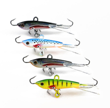4Pcs Group of Fish Vertical Jigging Lure 10g 6cm Metal Lead Fish Lure Winter Ice Fishing Hook Bait Balance Jigs(China)