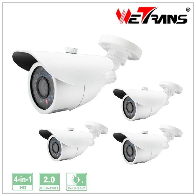 Security Camera 1/2.7 CMOS 2.0MP 1920*1080P CCTV outdoor IR  4 in 1 Onvif P2P IR Bullet Camera 4pcs/lot<br><br>Aliexpress