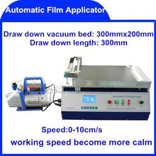 Free Shipping Automatic Film Applicator (Coater) coaters application applicators  0~10cm/s  for different size substrate