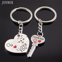 JOYROX 2017 Romantic Love Heart Key Chains Trinket For Couple Creative Valentine Day Gift For Women Bag Keyring Jewelry