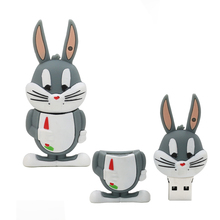 Memory Stick 128GB USB Flash Drive 2.0 real capacity Ducks and rabbits USB flash drive pen drive 4g 8g 16g 32g 64g Pendrives(China)