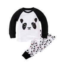 Long Sleeve Children's Pajamas Sets Cotton Christmas Pajamas for the Boys Sleepwear Pajama for Girls Baby Clothes Suit for 2T-7T(China)