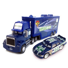 Disney Pixar Cars No.121 Mack Truck + Small Car Clutch Aid Metal Toy Car For Children 1:55 Loose Brand New In Stock(China)