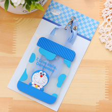 Kawaii Doraemon Silicone Milk Bottle Shape 12*7CM Rope Hanging BUS & ID Card Holder Case Pouch BAG Holder