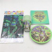 birthday decorations cool movie ninja turtles theme disposable tableware set party supplies for kids boys lot of 51pcs