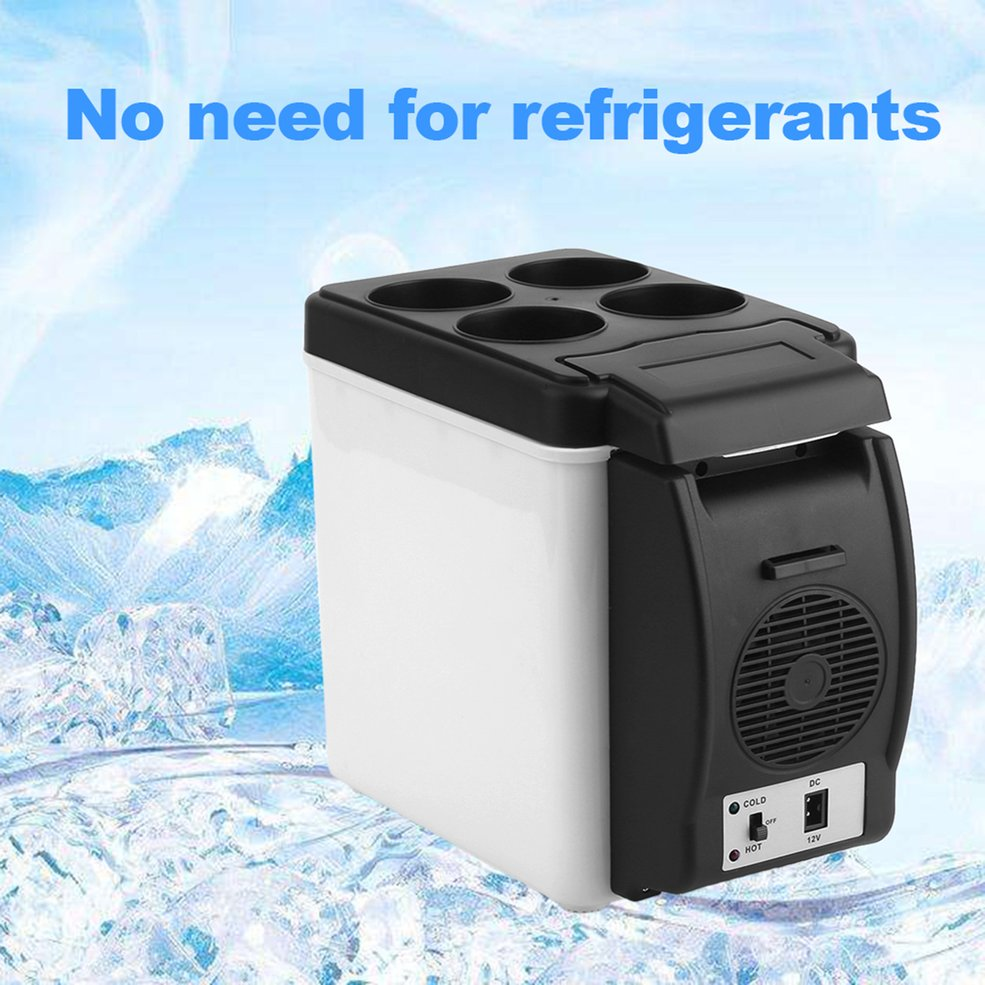 Small Refrigerator Cooler Mini Fridge Car Camping Warmer 12V 6L Home for White Enough-Capacity title=