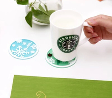 Free shipping Starbucks Snowflakes Coasters Cup Cushion Holder Non-slip heat insulation Coasters Cup Mat