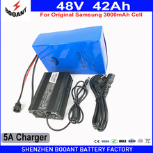 BOOANT Scooter Battery Pack 48V 42AH ForBafang 2000W Motor Use Original Samsung 18650 3000mAh Cells With 5A Charger 70A BMS(China)