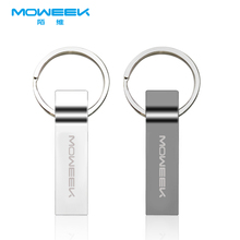 Moweek Waterproof USB Flash Drive metal pen drive 8GB 16GB 32GB 64GB USB stick pendrive flash drive metal usb flash free ship(China)