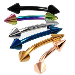 2pcs Colorful Steel Horseshoe Bar Lip Nose Septum Rings Ear Rings