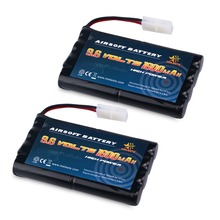 Melasta 2packs 9.6v 1600mAh Ni-MH Rechargeable Replacement RC Battery Pack with Tamiya Connector for RC Cars Boat Robot Security(China)