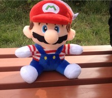 Super Mario 25cm szie green King Plush Toy Stuffed Animals Soft Dolls Kids Gift xmas gift for you(China)