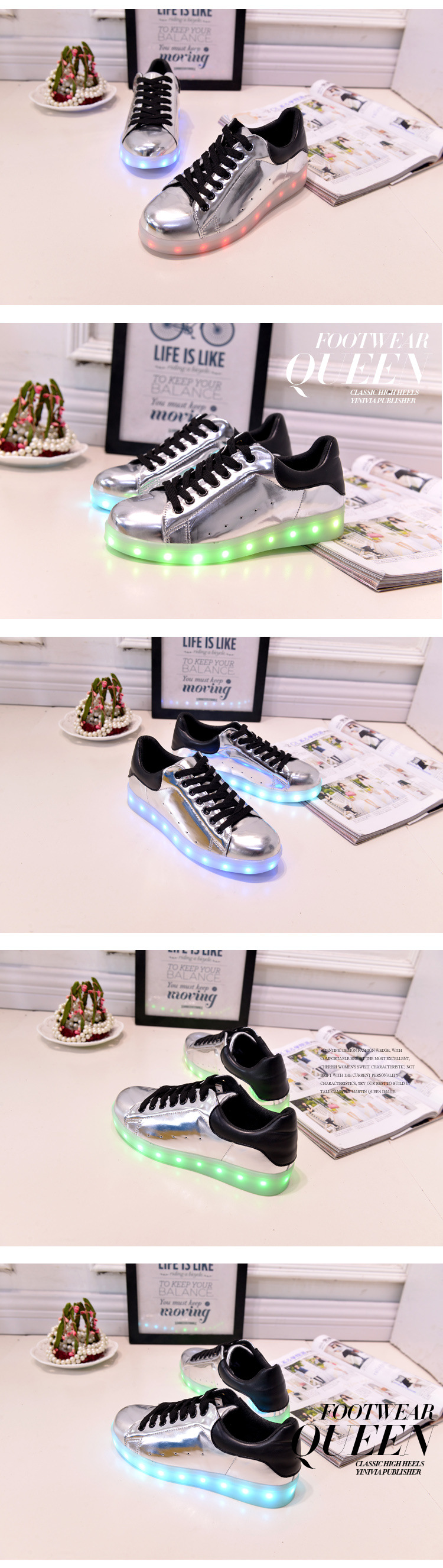 17 Baby Girls Boys LED Light Sneakers Colorful USB Charging for Kids Flashing Casual Flat students children Luminous Shoes 7