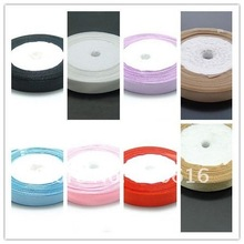 12MM 50Yard Polyester Satin Ribbon Riband Band Woven Blet Hair Jewelry Findings(China)