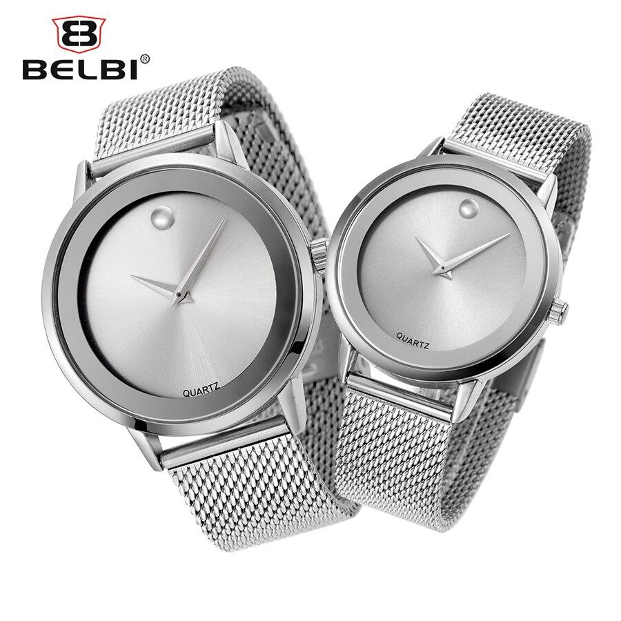 Belbi Luxury Men Watch Women Lovers Fashion Alloy Steel Quartz Watches Mens Waterproof Sport Quartz-Watch Silver Wristwatch 2016<br><br>Aliexpress
