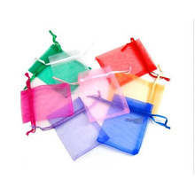 100 x Organza Wedding Favour Gift Candy Bags Jewellery Pouches 7CM*9CM