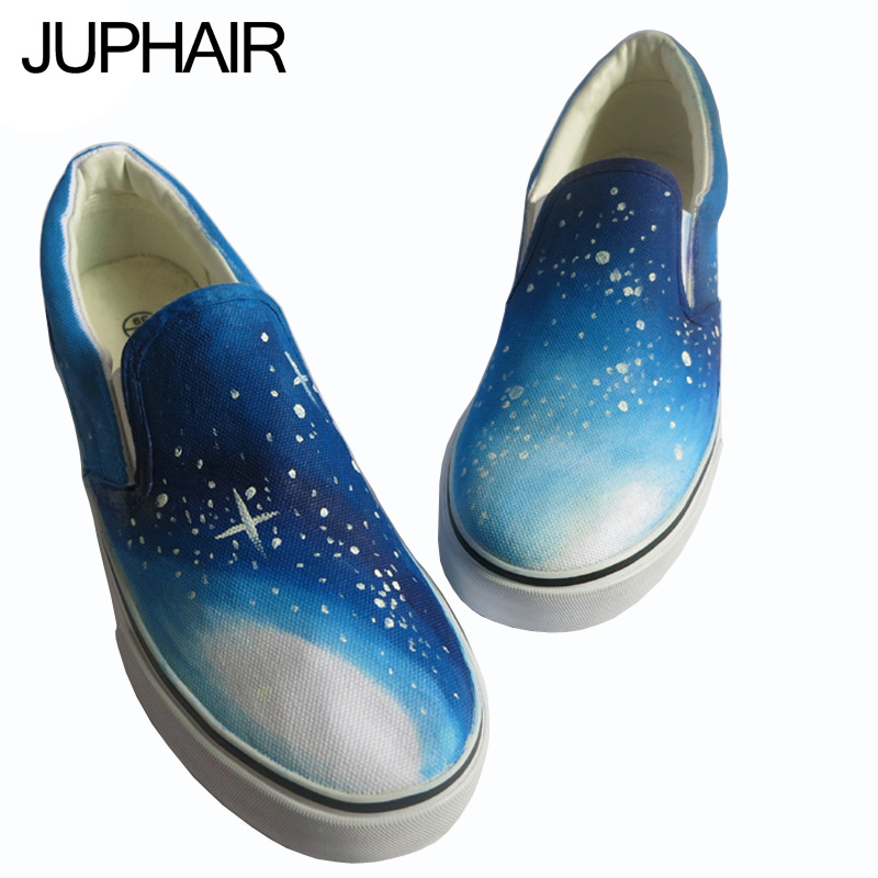 JUP Shoes Mens Males Painted Shoes Personalized Hand-painted Canvas Flats Shoes Female Mens Sales Espadrilles Flat Shoes Males<br><br>Aliexpress