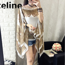 Summer Scarf , 4 Ways to wear ! 2018 Best Seller Women Summer Beach scarf Shawls Chiffon Bandana Beach Mat poncho de inverno 037(China)