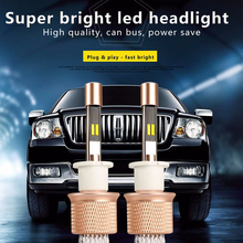 90W For Philips Chip TWO COLOR Auto LED Headlight 3000K Golden yellow 6000K Super white H7 H11 9005 HB3 9006 HB4 LED Lamps light