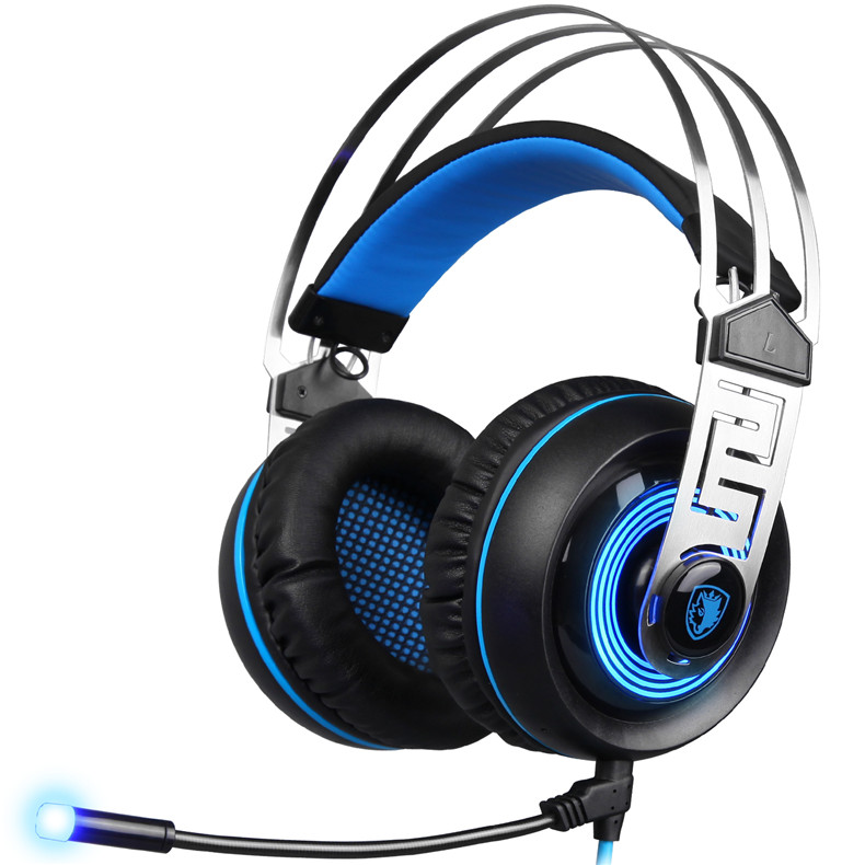 Sades A7 USB Gaming Headset Headphones 7.1 Stereo Surround Sound Earphone Game Headphone with Microphone Led for PC Laptop Gamer (1)