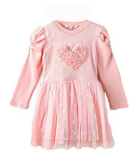 Pudcoco Girls Summer Dress Toddlers Party Dresses For Girls Kids Clothes Long Sleeve 3D Heart Tulle(China)