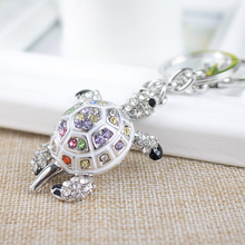 Buy Keychains Bags Lovers Gift Beautiful Rhinestone Tortoise Keychains Keyring Turtle Metal Crystal Key Ring Chains for $2.31 in AliExpress store