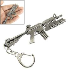 Weapon Gun Keychain Models Superior Grenade Launcher M4 Carbine Shape Pendant Metal Keyring(China)