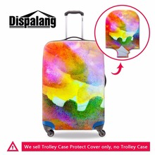 Dispalang Customized Colorful Luggage Cover Thick Protect Suitcase Covers Apply To 18''-30'' Case Waterproof Travel Accessories