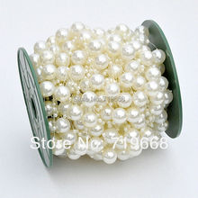 NEW STYLE IN STOCK!30meters 12MM+3MM pearl beads wedding garland centerpiece flower/table candle decoration DIY crafting(China)