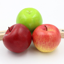 1Pcs Beautiful Apple Fake Artificial Fruit Model House Kitchen Party Decoration Home Ornaments Mold For Sale New Arrival(China)