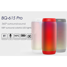 AEC BQ-615 PRO Colorful LED Lights Wireless Bluetooth Speaker HIFI Stereo 3.5mm Audio Port Support NFC Microphone FM Radio TF