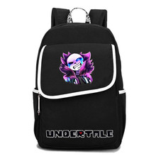 2017 New Undertale Frisk Sans Papyrus Undyne Luminous Printing Backpack Canvas School Bags Schoolbag Backpack Mochila Feminina