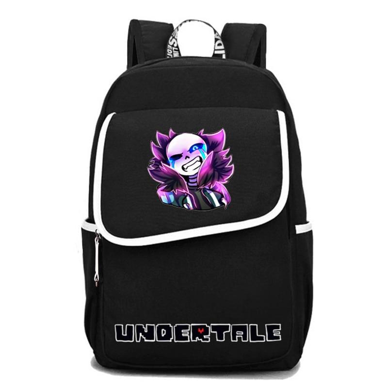 2017 New Undertale Frisk Sans Papyrus Undyne Luminous Printing Backpack Canvas School Bags Schoolbag Backpack Mochila Feminina<br>