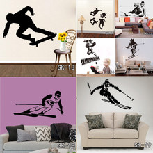 DIY Skating Ski Snowboarding Wall Stickers Home Decoration Dance Vinyl Decal Ice Winter Sports Skate PVC Wall Murals(China)