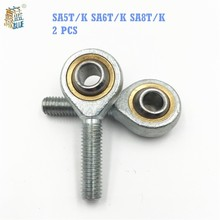Buy Rod End Joint Bearings SA5T/K SA6T/K SA8T/K ( 2 PCS ) Self Lubricating Male Right Hand Threaded Rod Ends Bearing